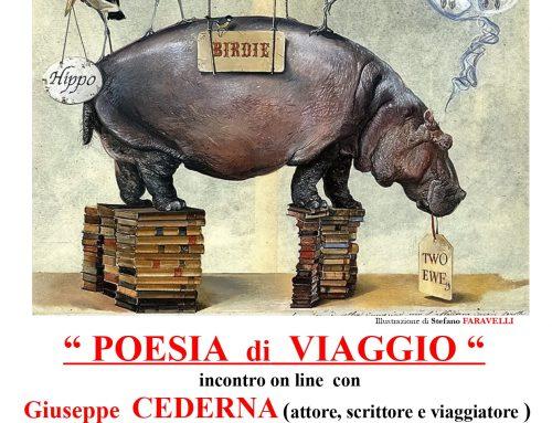 """""""Poesie di viaggio"""" incontro on line con G. Cederna e F. Arminio in occasione del trentennale della Libreria"""