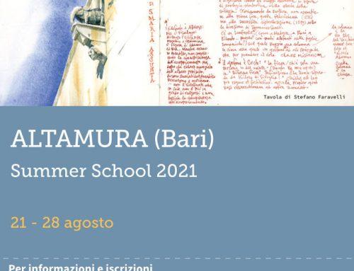Una vacanza intelligente? La Summer School della Scuola del Viaggio ad Altamura dal 21 al 28 agosto!